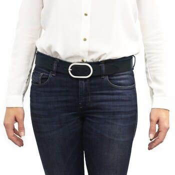 ceinture intemporelle cuir bleu marine jules & jenn