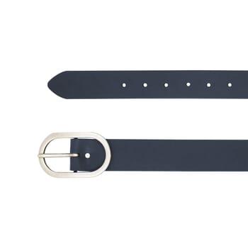 gros plan ceinture large cuir bleu jules & jenn