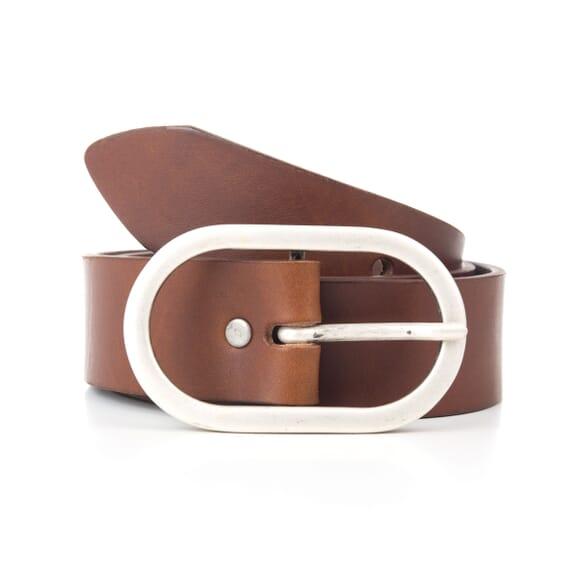 Mules plates cuir marron