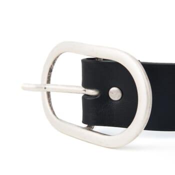 boucle de ceinture femme cuir noir Jules & Jenn