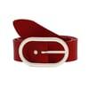 ceinture large intemporelle femme cuir rouge