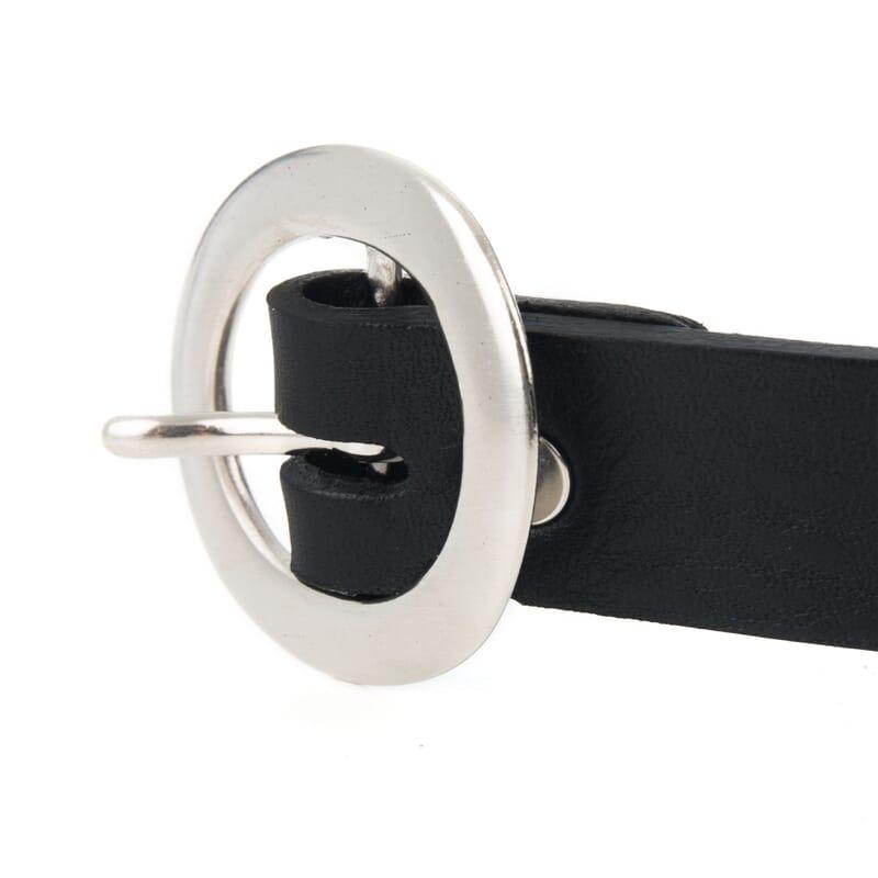 boucle de ceinture fine cuir noir jules & jenn