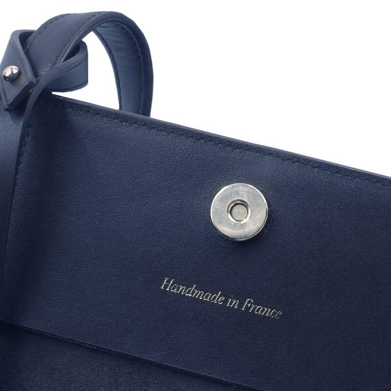 vue interieure sac cabas cuir bleu jules & jenn