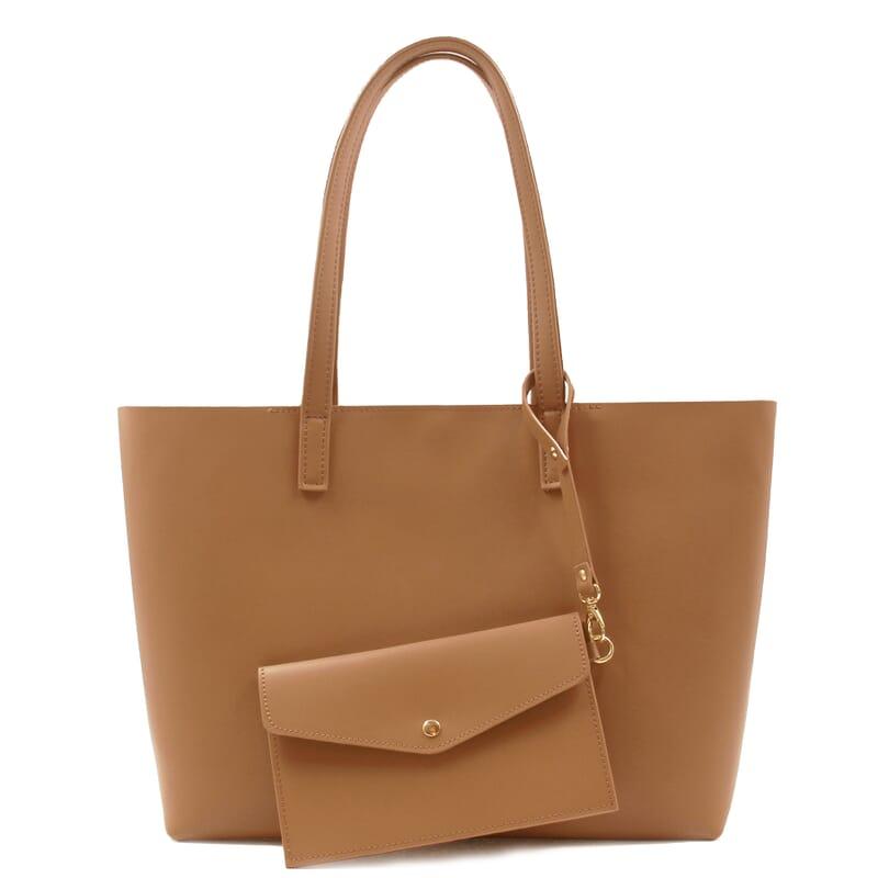 vue pochette intérieure du sac cabas cuir camel jules & jenn