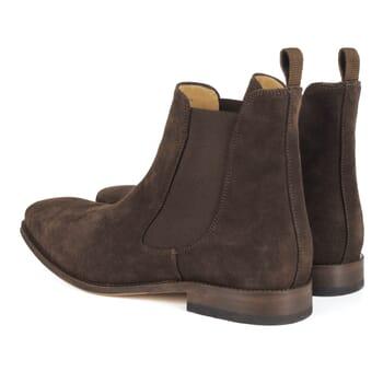 vue arriere de chelsea boots homme cuir daim marron Jules & Jenn