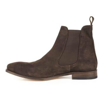 vue interieure de chelsea boots cuir daim marron Jules & Jenn