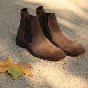 chelsea boots cuir daim marron jules & jenn