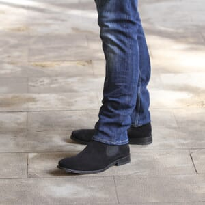 chelsea boots cuir daim noir jules & jenn