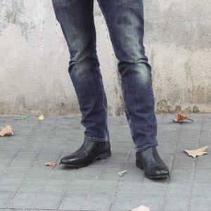 chelsea boots cuir noir jules & jenn
