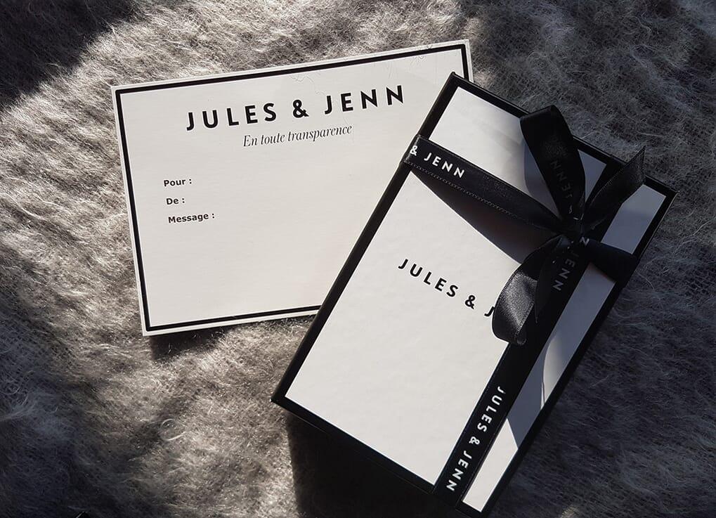 boites cadeau et cartes cadeaux Jules & Jenn