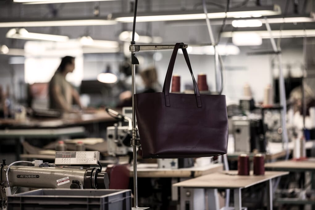 Sac cabas bordeaux JULES & JENN Made in France