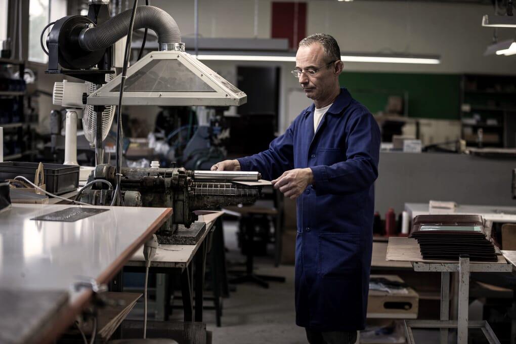 Savoir-faire maroquinerie sac cabas JULES &JENN Made in france