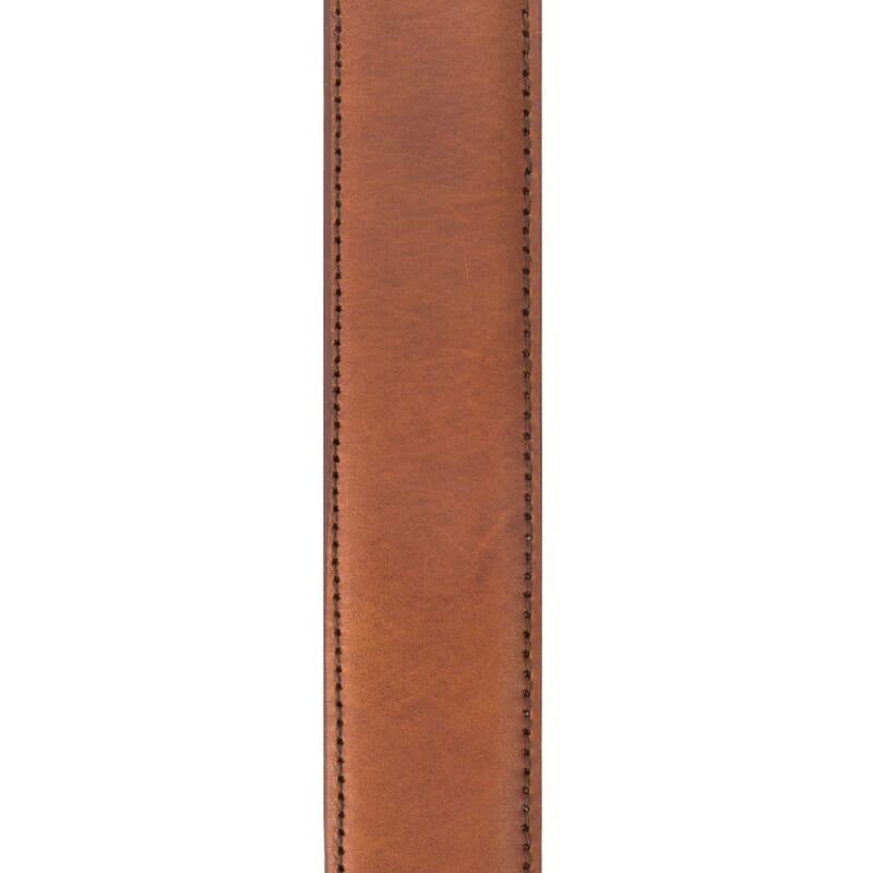 matiere ceinture cuir cognac