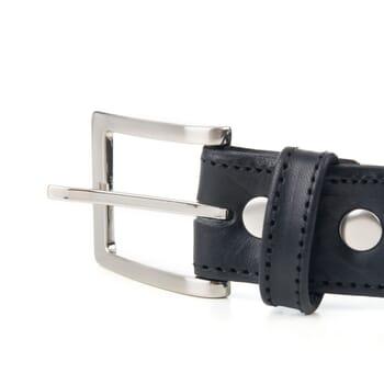 boucle de ceinture classique cuir noir Jules & Jenn