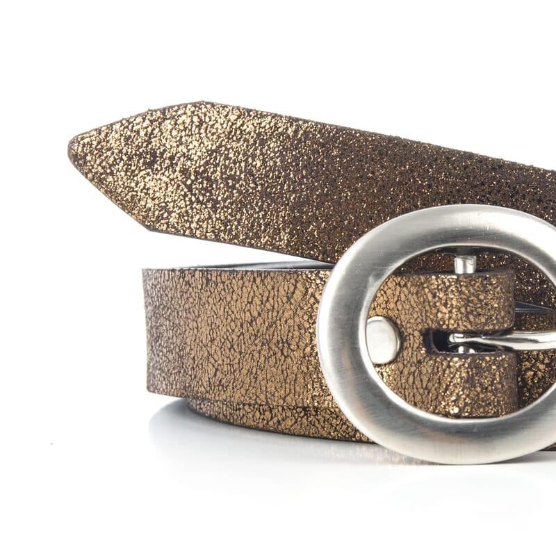 gros plan ceinture fine femme bronze fabriquee en France