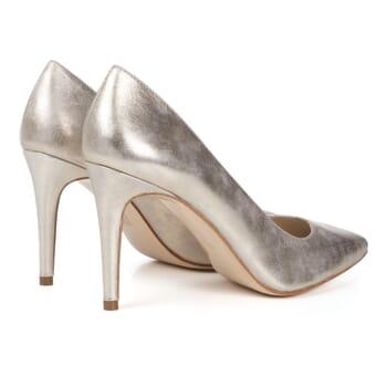 vue arriere escarpins dore metallise femme Jules & Jenn