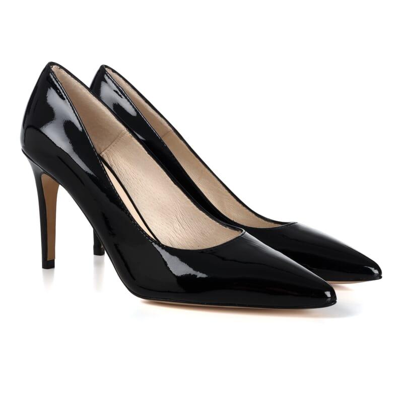 escarpins classiques cuir verni noir Jules & Jenn