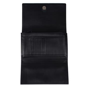 vue interieure du grand portefeuille cuir noir Jules & Jenn