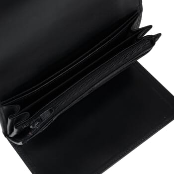 gros plan grand portefeuille cuir noir Jules & Jenn