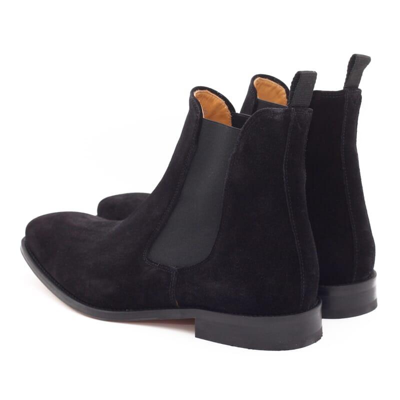 vue arriere de chelsea boots homme cuir daimnoir Jules & Jenn