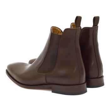 vue arriere de chelsea boots homme cuir marron Jules & Jenn