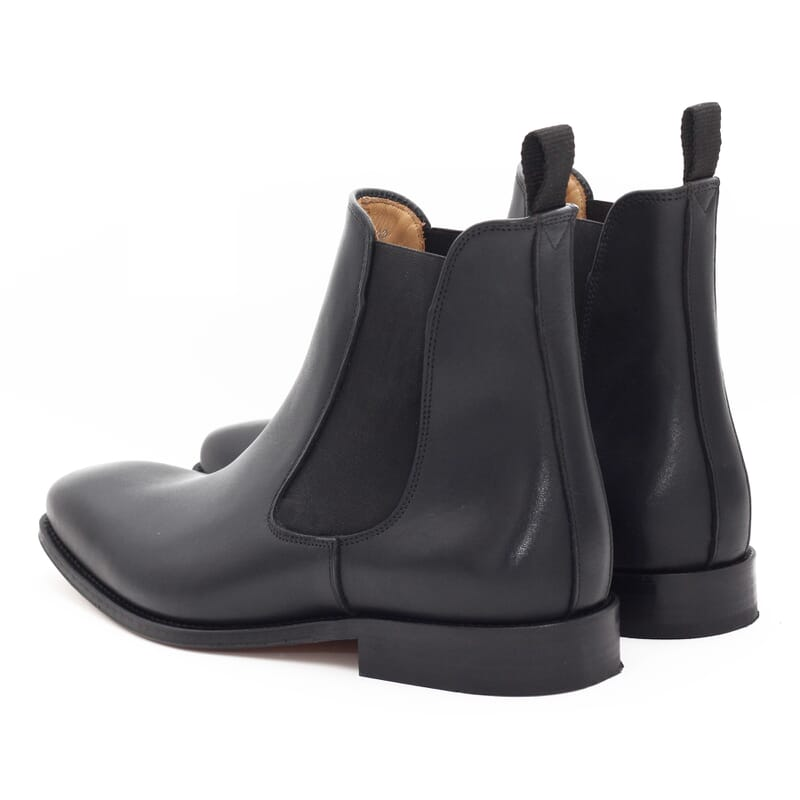 vue arriere de chelsea boots homme cuir noir Jules & Jenn