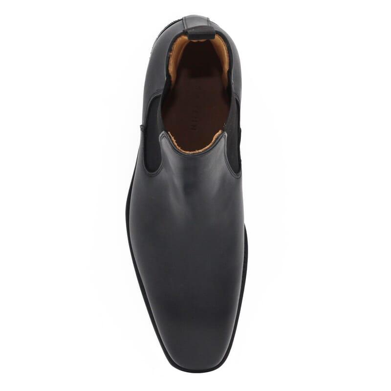 vue dessus de chelsea boots cuir noir homme Jules & Jenn