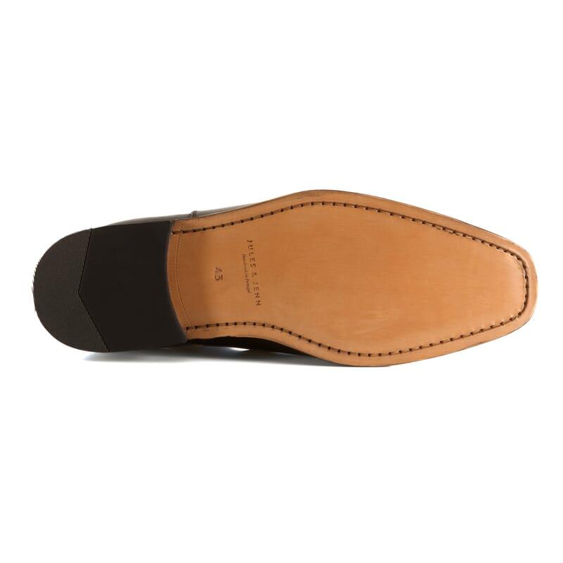 semelle cuir de chelsea boots homme noir Jules & Jenn