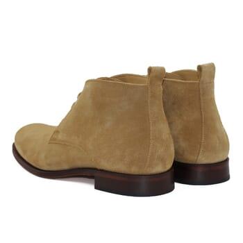 vue arriere desert boots cuir daim beige jules & jenn