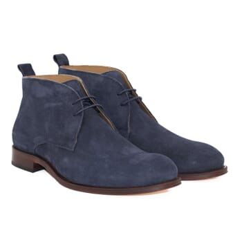 desert boots cuir daim bleu jules & jenn