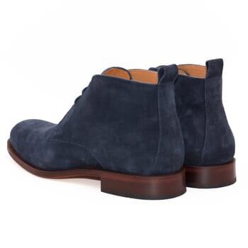 vue arrière desert boots cuir daim bleu jules & jenn