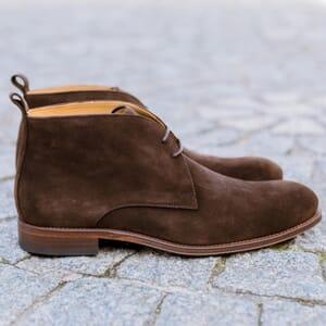 vue posee desert boots cuir daim marron jules & jenn