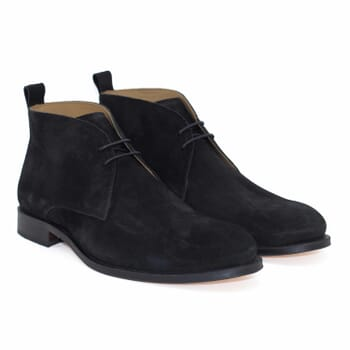 desert boots cuir daim noir jules & jenn