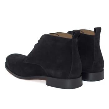 vue arrière desert boots cuir daim noir jules & jenn