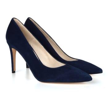 escarpins classiques cuir daim bleu Jules & Jenn