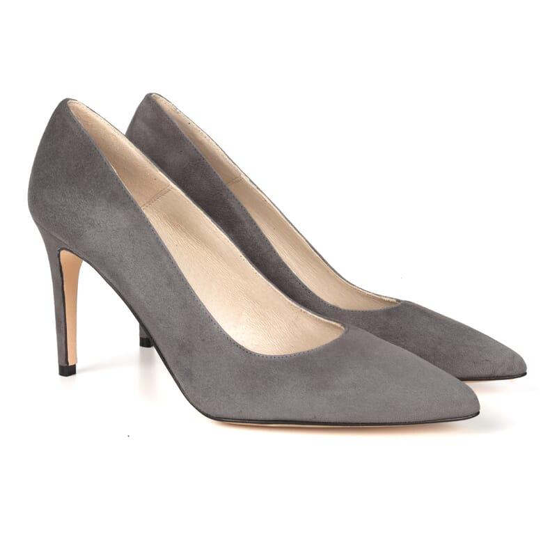 escarpins classiques cuir daim gris Jules & Jenn