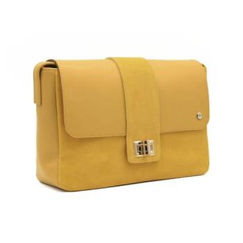 vue cote sac bandouliere cuir jaune jules & jenn