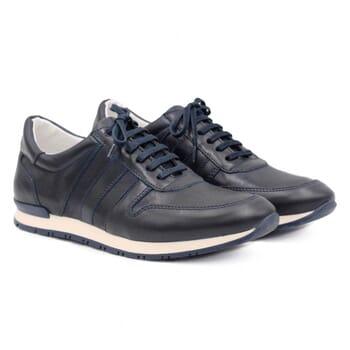 sneakers cuir bleu JULES & JENN