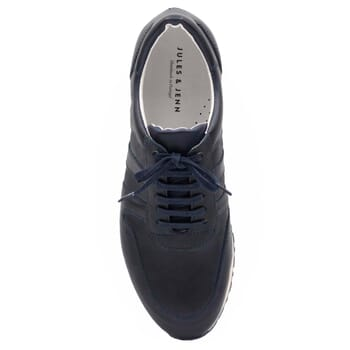 vue dessus sneakers cuir bleu JULES & JENN