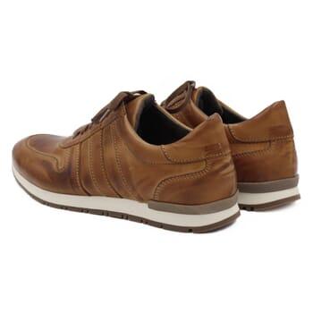 vue arriere Sneakers cuir cognac Jules & Jenn