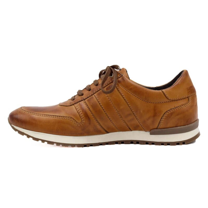 vue intérieure sneakers cuir cognac JULES & JENN