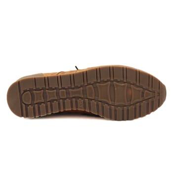 semelle cuir Sneakers cuir cognac beige Jules & Jenn