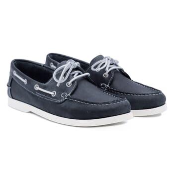 chaussures bateau cuir bleu jules & jenn