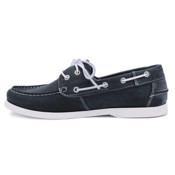 vue intérieure chaussures bateau cuir bleu jules & jenn