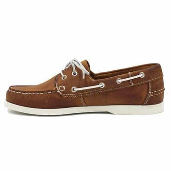 vue interieure chaussures bateau cuir cognac jules & jenn