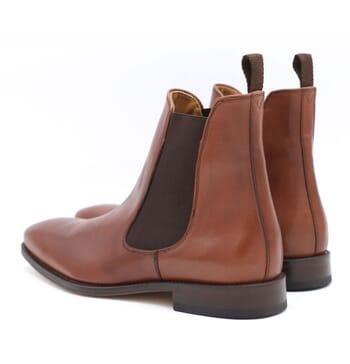 vue arriere chelsea boots cuir marron jules & jenn