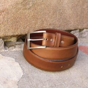 ceinture classique cuir cognac jules & jenn
