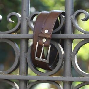 ceinture classique cuir marron jules & jenn