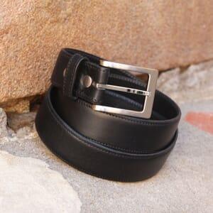 ceinture classique cuir noir jules & jenn