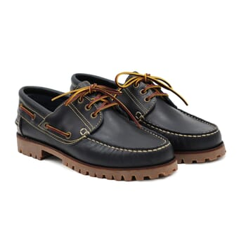 chaussure bateau crampons cuir bleu jules & jenn